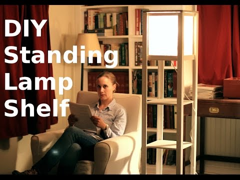 Building a Standing Lamp with Shelves