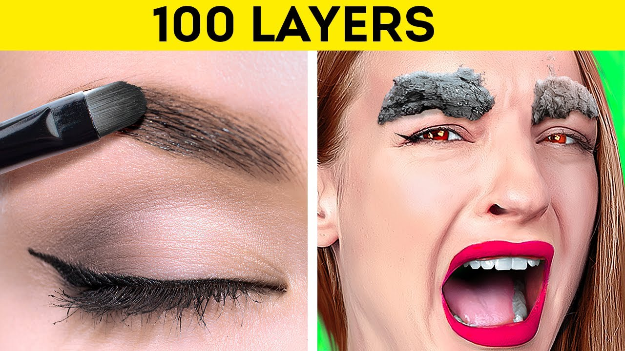 100 LAYERS CHALLENGE || Ultimate 100 Layers Of Food, Makeup, Clothes, Toilet Paper by 123 Go! GENIUS