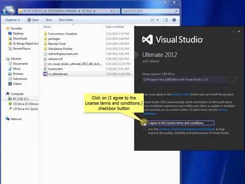 How to install Visual Studio ultimate 2012 (step by step process)