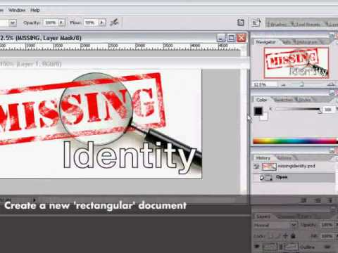 Rubber Stamp Text Photoshop Tutorial