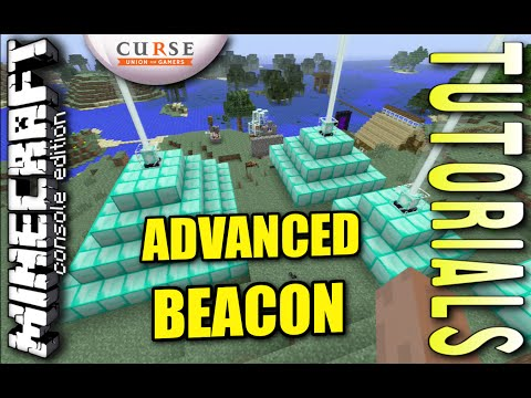 MINECRAFT - PS3 - ADVANCED BEACONS - HOW TO - TUTORIAL ( PS4 / XBOX /PC )  UPDATE