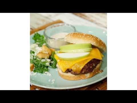 Fired Up Friday: Julie Munch's Green Apple Cheddar Aioli Burger