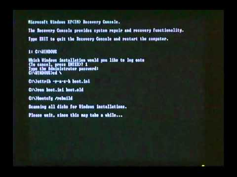 How to Create a New BOOT.INI.FLV