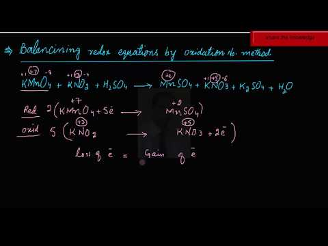 balancing of equation by oxidation number method in hindi urdu