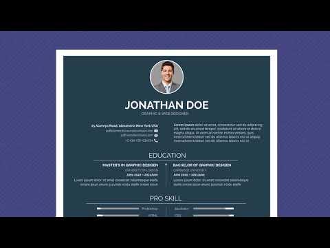 Free Professional Resume Template - Minimal Simple Dark