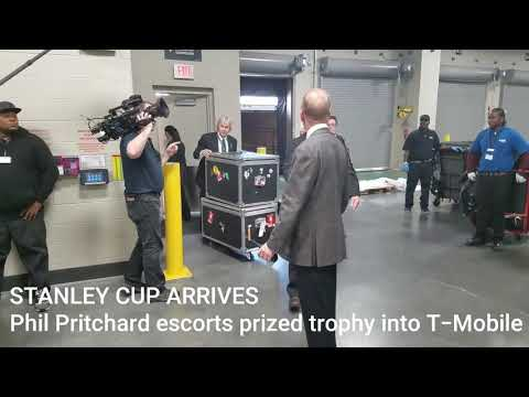 Stanley Cup arrives at T-Mobile Arena