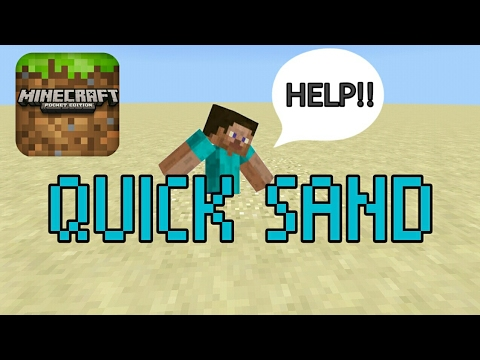 MCPE COMMANDS : How to make working QUICK SAND in mcpe