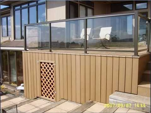 Composite Deck with glass railing,  Bellevue