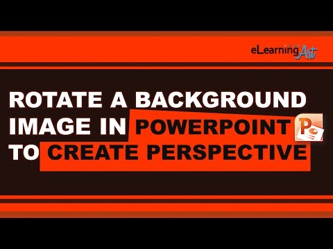 Rotate a background image in PowerPoint to create perspective