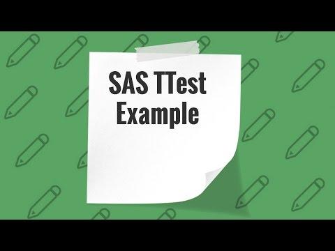 TTest in SAS