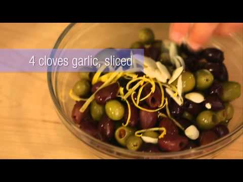 Easy Appetizers: How to Marinate Olives