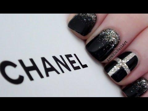 Chic Chanel Inspired Nails  |  ArcadiaNailArt
