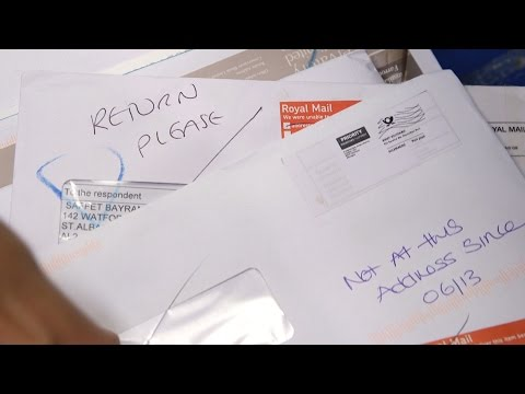 How a letter is sorted at Royal Mail's Mount Pleasant sorting office