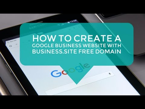 HOW TO CREATE a Google Business Website with business.site free domain
