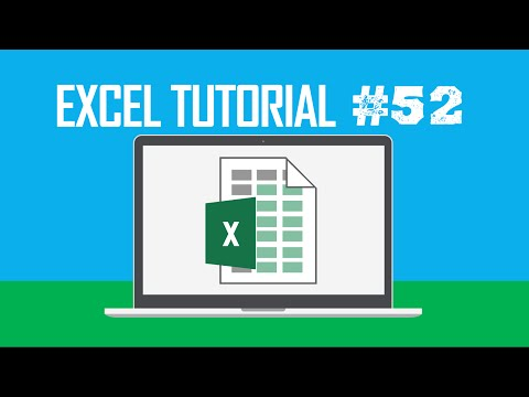 Excel Tutorial #52:  Displaying the Delete Dialog Box (Ctrl +