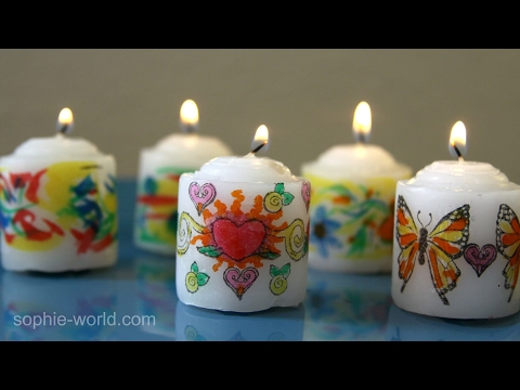 How to Make Personalized Art Candles | Sophie's World