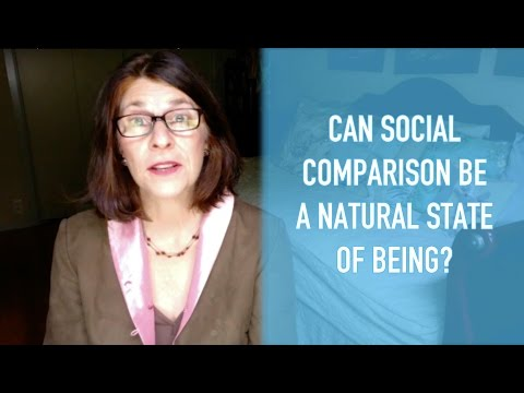 Can Social Comparison Be a Natural State of Being?