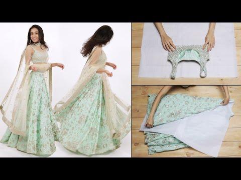 How To Fold Your Lehenga Perfectly | Glamrs.com