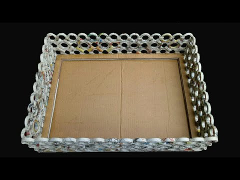 How To Make A Basket with newspaper, Cardboard and Fevicol Simple And Easy