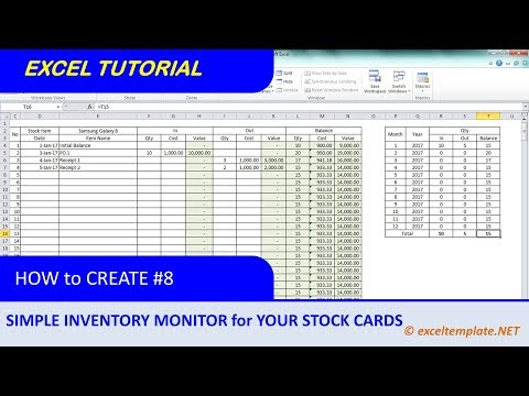 How to Create Inventory Monitoring System for Stock Cards