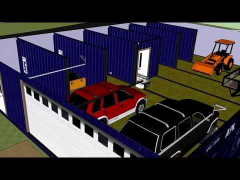 SHIPPING CONTAINER HOME 2 CAR GARAGE