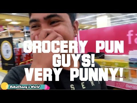 Funny Grocery Pun with Jay and Ram - The Pun Guys! Very Punny!!!!