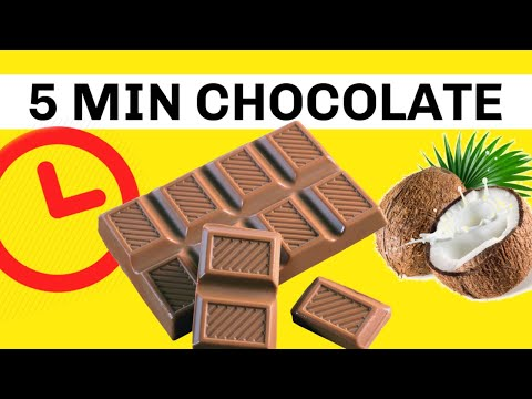 Healthy Chocolate in 5 Mins! Dairy Free. Organic. Gluten-Free