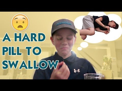 HE TRIES TO SWALLOW A PILL... EPIC FAIL! *stuck with chewables forever*