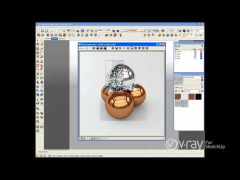 V-Ray for SketchUp - Making brushed nickel, stainless steel, and copper V-Ray materials -