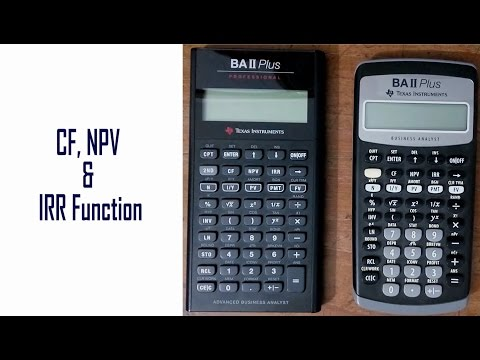 CF, NPV and IRR Function: Learn Everything of BAII Plus Financial Calculator  for CFA, FRM