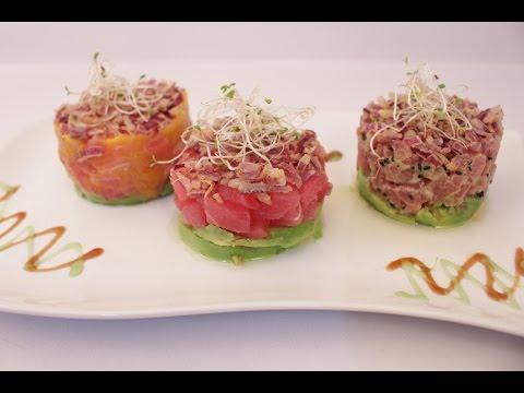 Tuna Tartare 3 Ways