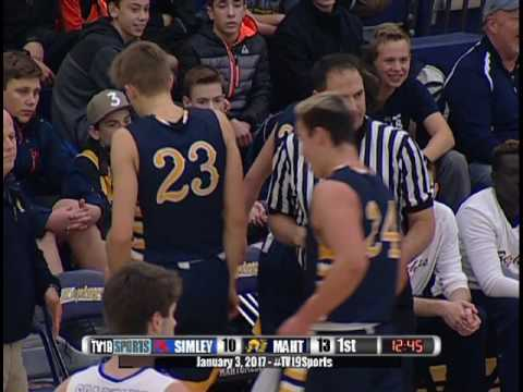 Boys Basketball - Mahtomedi vs Simley - 1/3/17