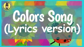 Colors Song for Kids (with lyrics) | The Singing Walrus