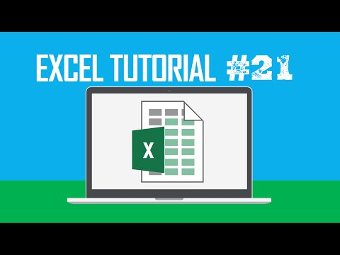 Excel Tutorial #21:  Customizing the Ribbon in Excel (Customize the Quick Access Toolbar)