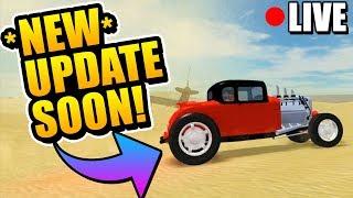 Roblox Vehicle Simulator Fan Server! NEW UPDATE COUNTDOWN! BUS, HOTROD, & MORE!