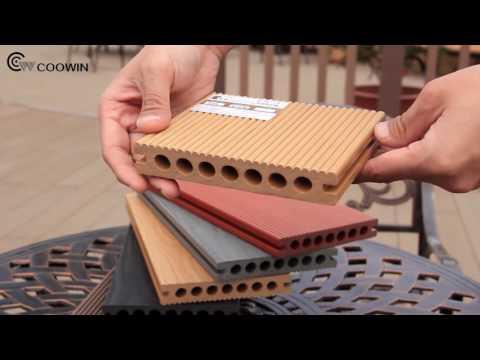 WPC Anti Corrosion Wood Plastic Composite Hollow Flooring Decking