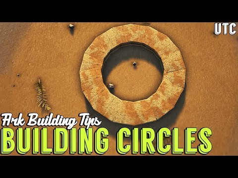 Learning To Build A Perfect Circle :: Ark Building Tip #3 :: Vanilla Fence Foundation Tricks
