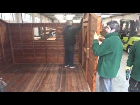 Demonstrating construction of a 10x8 tan apex - Easy Shed