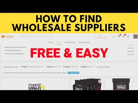 How to Find Amazon Wholesale Suppliers Using Hubba.com for FBA in 2018