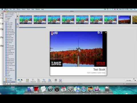 How to make a book on iPhoto