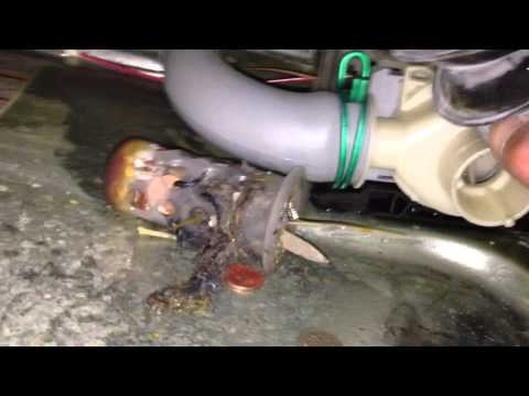 Fixing a No-Drain Problem in a Front Load Washer by Cleaning the Gookus out of the Drain Pump