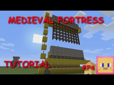 Minecraft - Medieval Fortress Tutorial EP4 | Castle Gate