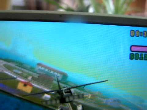 GTA Vice City stunt plane fly and crash (PSP)