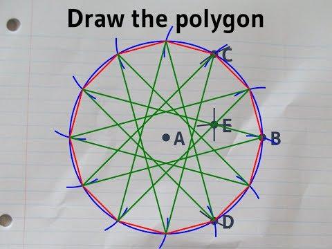 Constructing a regular dodecagon in a circumcircle