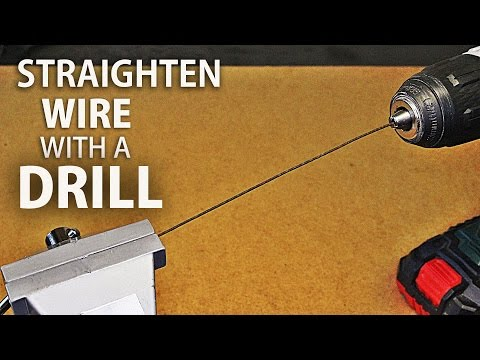 How to Straighten A Wire Using A Drill !