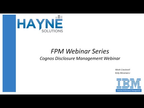 Automating the Reporting Process with IBM Cognos Disclosure Management