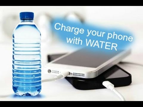 Charge your phone using WATER. 100% works (2016)