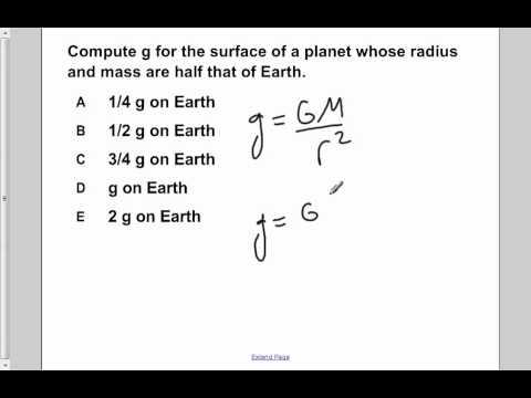 AP Physics B Universal Gravitation Presentation #5