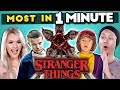 Can YOU Name The Most STRANGER THINGS Characters In 1 MINUTE Most In A Minute