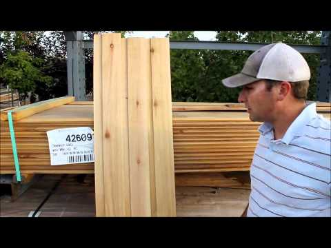 Cedar Siding and Paneling by mywoodproject.com
